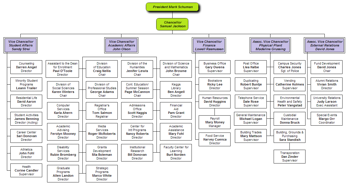 sample organisation chart